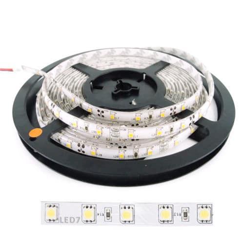 Ταινία LED 14.4W 60LED 5050 12VDC Θερμό Λευκό IP20
