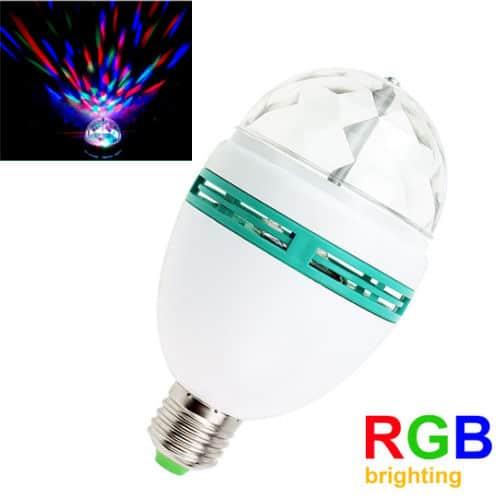 Περιστρεφόμενος Χριστουγεννιάτικος Λαμπτήρας RGB 3Watt