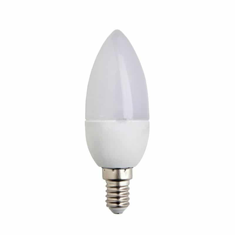 Κεράκι LED E14 6W 170-250V Θερμό Λευκό, Κεράκι LED E14 6W 170-250V Λευκό Ημέρας