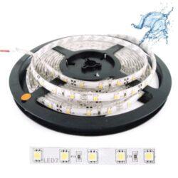 Ταινία LED 14.4W 60LED 5050 12VDC Ψυχρό Λευκό IP65