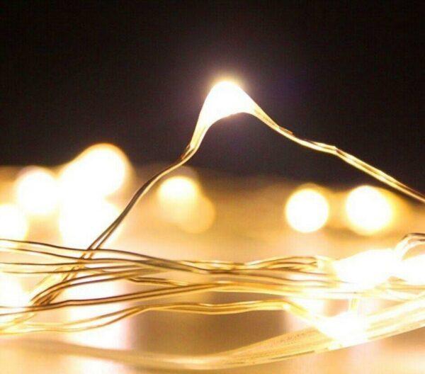 Αδιάβροχα Λαμπάκια LED 4Watt Θερμό Λευκό με μπαταρία & Κοντρόλερ