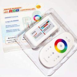LED RGB (RF) Controller 2.4GHz 12/24VDC 288Watt με Χειριστήριο Αφής