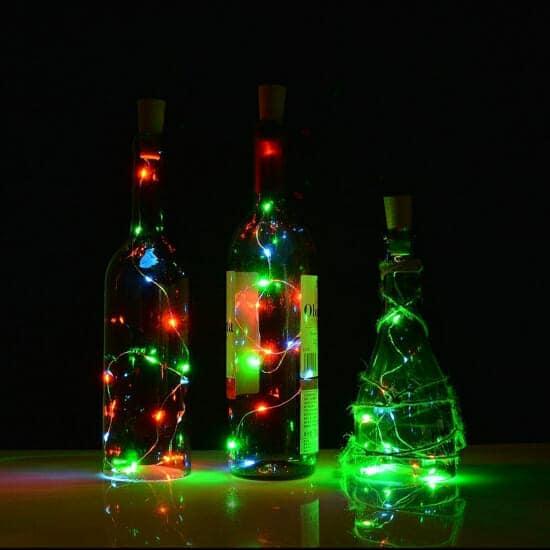Αδιάβροχα Λαμπάκια LED 4Watt RGB με μπαταρία & Κοντρόλερ