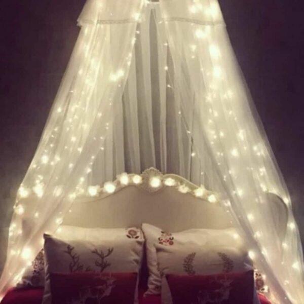 Χριστουγεννιάτικη LED Κουρτίνα Βροχή 320led 18W Λευκό Ψυχρό