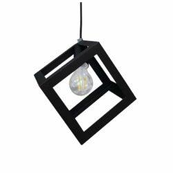 Κρεμαστό Μεταλλικό Φωτιστικό Οροφής CUBE 1XE27