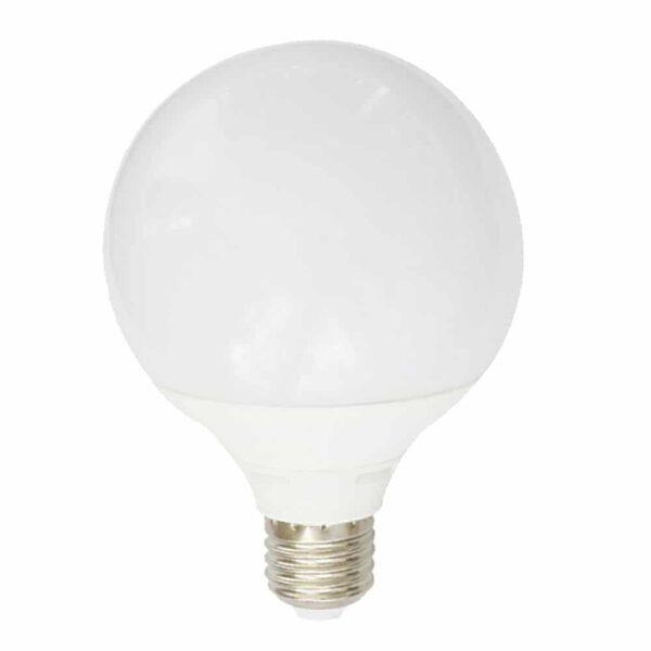 Γλόμπος LED G95 με βάση E27 15 Watt 230v Ψυχρό Λευκό