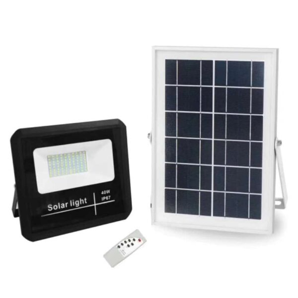 Ηλιακός Προβολέας LED με αισθητήρα & χρονοδιακόπτη 40Watt