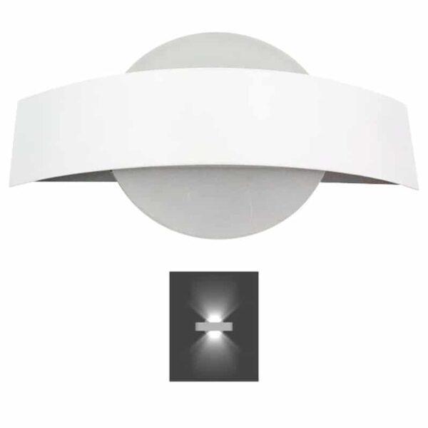 Απλίκα τοίχου LED 4Watt Θερμό Λευκό