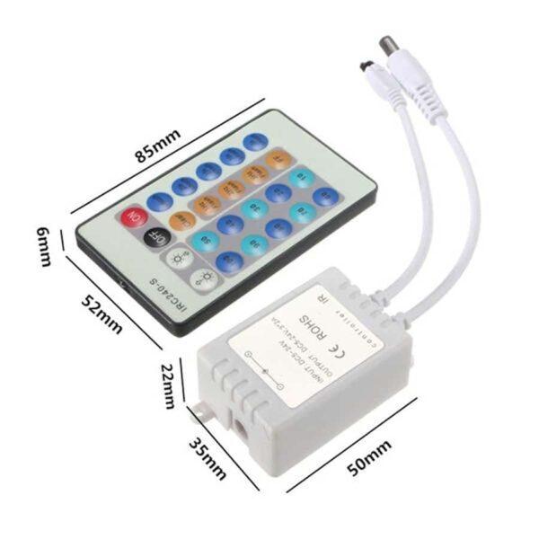Ασύρματο LED Ντίμερ Μονού χρώματος IR 5-24VDC