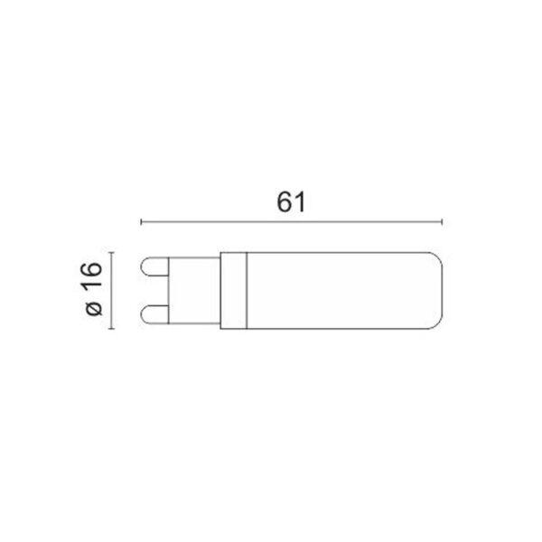 Λάμπα LED G9 7W 240VAC Ψυχρό Λευκό