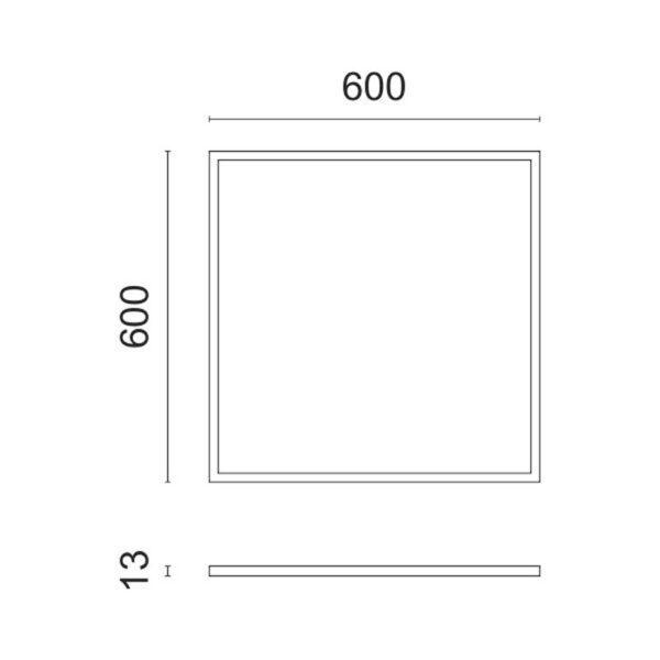 Πάνελ Οροφής LED 60Χ60 40Watt Λευκό Ημέρας