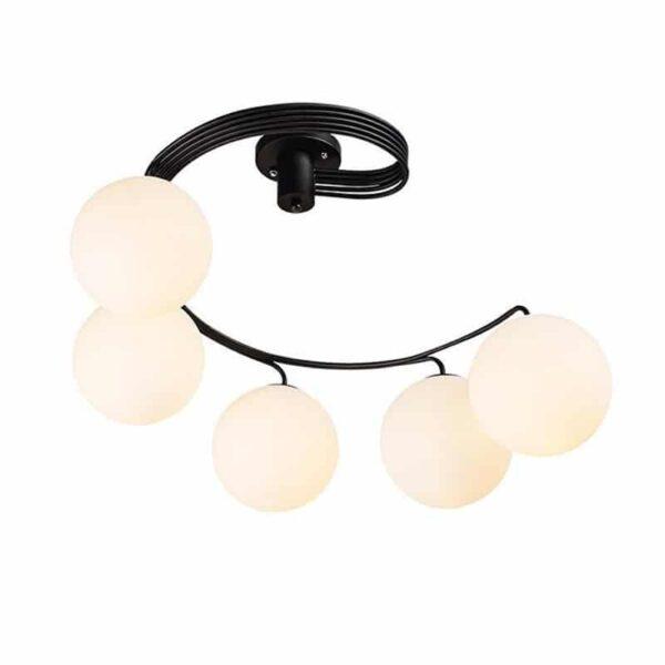 Φωτιστικό Οροφής Μεταλλικό με Λευκό Γυαλί Φ63-1