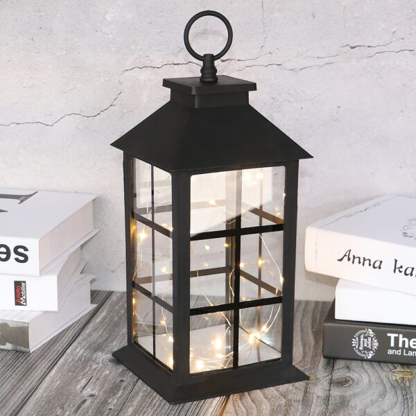 Φαναράκι 35cm με Φωτάκια LED Copper