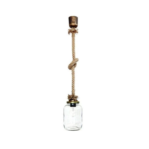 Κρεμαστό φωτιστικό FUN-07 1L ROPE VASE