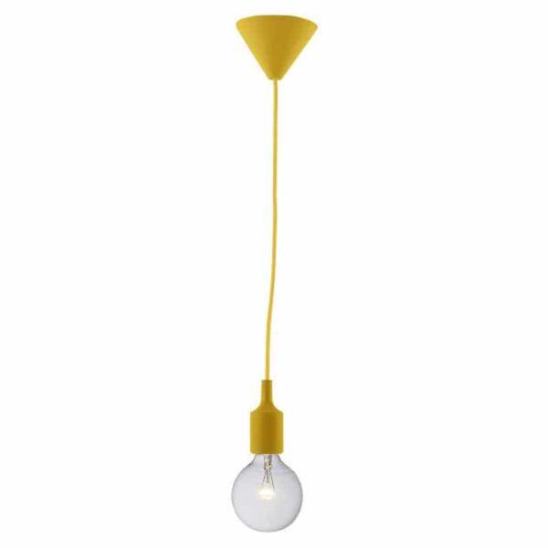 Κρεμαστό Φωτιστικό Σιλικόνης Ε27 Κίτρινο