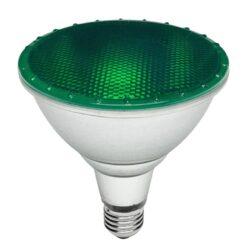 Λάμπα LED E27 PAR38 15Watt IP65 Πράσινο