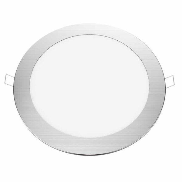 Πάνελ LED 18W 240VAC Ψυχρό Λευκό Νίκελ Ματ