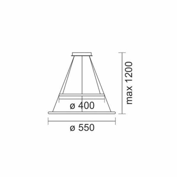 Κρεμαστό Φωτιστικό LED 60W Θερμό Λευκό