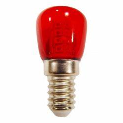 Λαμπάκι Νυκτός - Ψυγείου LED E14 1,5 Watt Κόκκινο