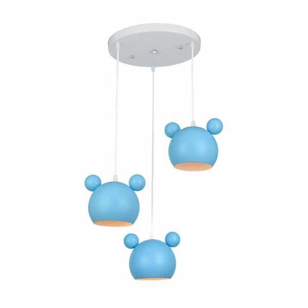 Παιδικό Φωτιστικό Mickey 3xΕ14 Μπλε