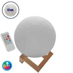 Ανάγλυφο Φωτιστικό 3D Moon