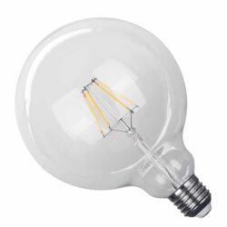 Γλόμπος LED Filament E27 4 Watt G125 Θερμό Dimmable