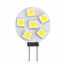 Λάμπα LED 1.2watt G4 6SMD 12VDC Ψυχρό Λευκό