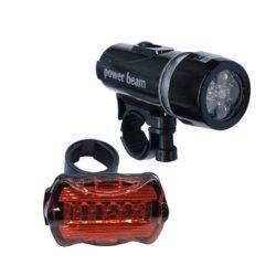 Σετ Φακός Ποδηλάτου με Οπίσθιο Φανάρι LED GloboStar 06203