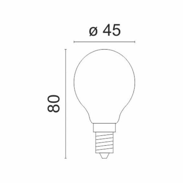 Γλομπάκι LED E14 8W 230VAC Λευκό Ψυχρό