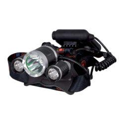 Φακός Κεφαλής LED Zoom T6 + 2xCREE XPE