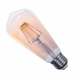 Λάμπα LED E27 ST64 8W 230V Filament