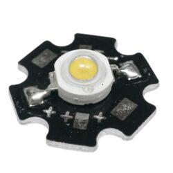 Υψηλής Ισχύος Led 1 Watt Star Θερμό Λευκό GloboStar 47040