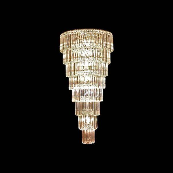 Κρεμαστό 44φωτο φωτιστικό E14x44 8 επιπέδων με χρώμιο σώμα & κρύσταλλα BLESSY-1