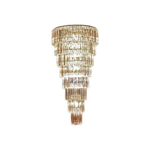 Κρεμαστό 44φωτο φωτιστικό E14x44 8 επιπέδων με χρώμιο σώμα & κρύσταλλα BLESSY