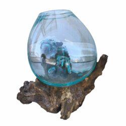 Ρίζα Ξύλινη με Φυσητό γυαλί (medium)