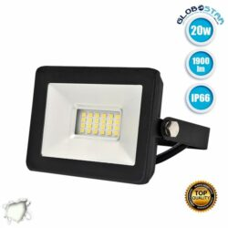 Προβολέας LED Slim Pad 20W 230v 1900lm 120° Αδιάβροχος IP66 Φυσικό Λευκό 4500k GloboStar 11142