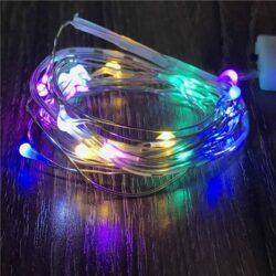 Λαμπάκια LED RGB με μπαταρία 1μ